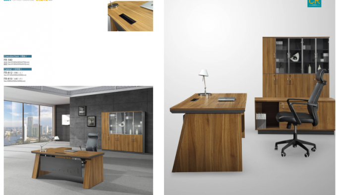 160cm Manager Melamine Office Furniture MDF / MFC Finishing Type Oil Resistant