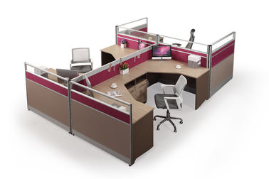 Customized Size Workstation Office Furniture Aluminum Frame 45mm 60mm Material