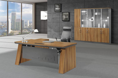 China 160cm Manager Melamine Office Furniture MDF / MFC Finishing Type Oil Resistant supplier