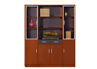 Wooden Lockable Office File Cabinets Light Cherry Color With Swing Door