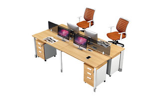 Popular MDF Office Partition Workstation ISO9001 Standard With Key Lock