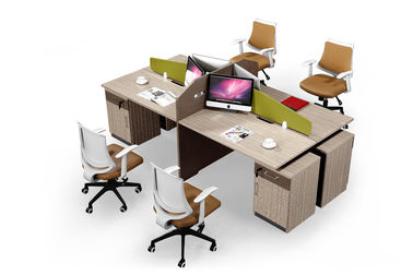 Anti Fire Modular Office Partition , Workstation Office Furniture Fine Workmanship