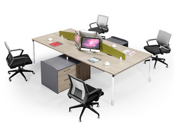 L Shape Fabric Screen Office Partition Workstation Customizied Colors