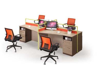 MDF Material Computer Workstation Desk , Commercial Office Workstations Custom Colors