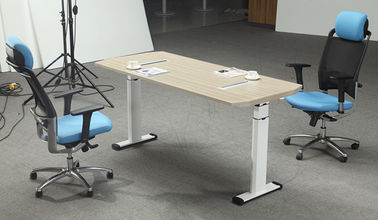 Height Adjustable Melamine Office Furniture Desk With Strong Wearability
