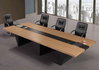 Square Small Melamine Conference Table 240cm 350cm 380cm Size ISO9001 Compliant