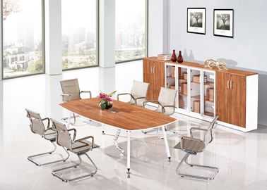 Metal Leg Design Melamine Conference Table K/D Structure Good Appearance