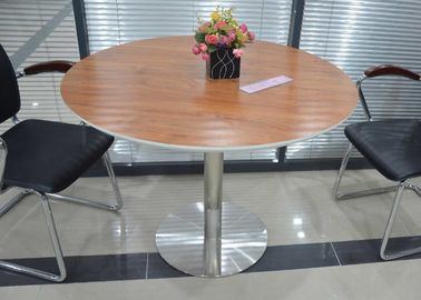 MDF Top Modern Round Meeting Table , Unique Conference Table Anti Water