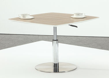 Eco Friendly Modern Bar Table , Side Coffee Tables On Stainless Steel Base