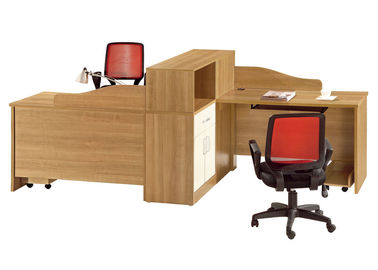 Panel Wood Compact Office Desk Workstation For Two Person