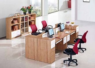 Modular Melamine Office Furniture Staff Cluster Desk 25mm Table Thickness