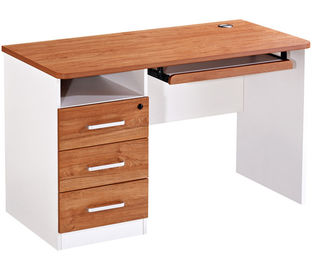 Knock Down Packed Melamine Office Computer Desk With Strong Leg