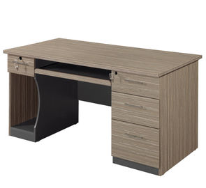 Modern Custom Office Desk With Melamine Faced Chipboard Material