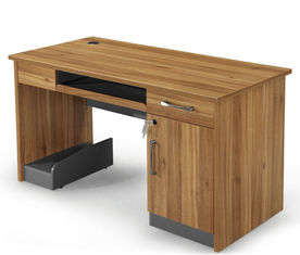 Customized Size Detachable Wooden Office Table / Wood Computer Desk