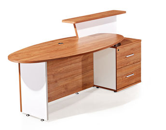 Oil - Proof Melamine Chipboard Office Reception Table Golden Walnut Color SGS BV