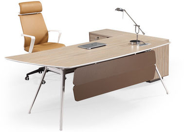 Durable Smooth Edge Office Manager Desk Environmental Friendly E1 Materials