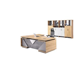 Simple Wooden Office Table , Contemporary Laminate Wood Executive Desk