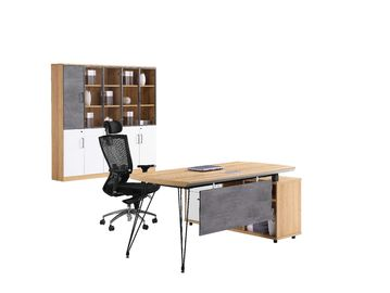 Plywood Hotel Or Office Manager Desk Double - Side Melamine Chipboard Raw Material