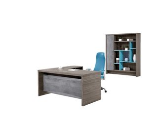 Two - Side Melamine Chipboard Executive Office Table Furniture For Deputy Directors / CEO