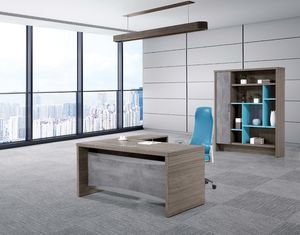 Two - Side Melamine Office Furniture Chipboard Executive Table For Deputy Directors / CEO