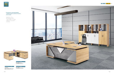 Melamine Faced Chipboard Office Workstation Desk ISO14001 BV SGS